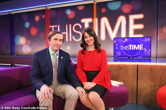 The brash email adds he hopes to clear the air with his colleagues, and he also sends a get well message to his new John Baskell (pictured with co-host Jennie, played by Susannah Fielding)