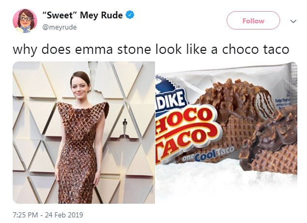 Sweet look! This Twitter user thought her dress looked like a wearable Choco Tao