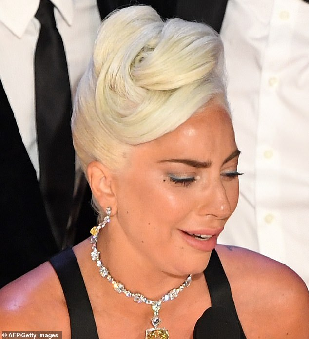Emotional: As the 32-year-old star accepted the award for Best Original Song at the awards she gave an emotional speech, during which she cried