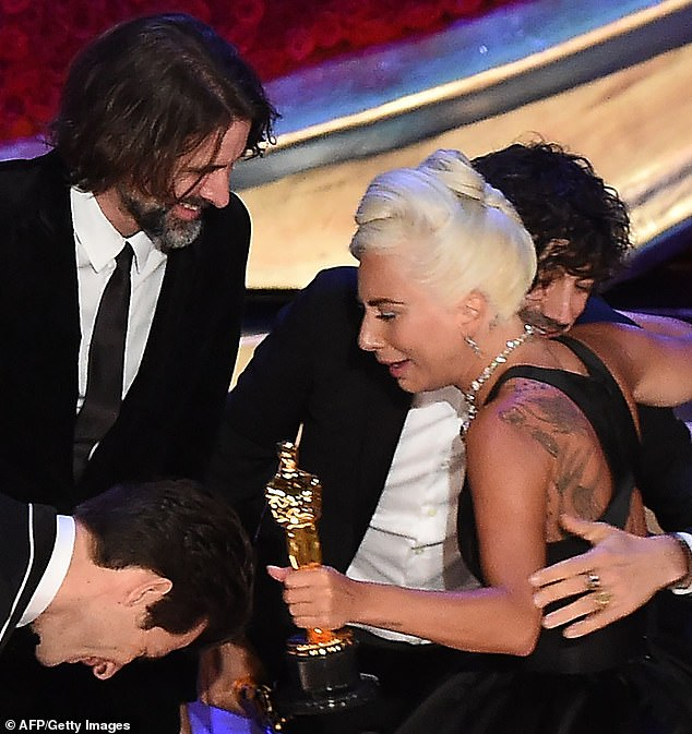 Shock! Gaga seemed shocked when it was announced that Shallow had won the award for Best Original Song, as she sobbed on her way to accept the award