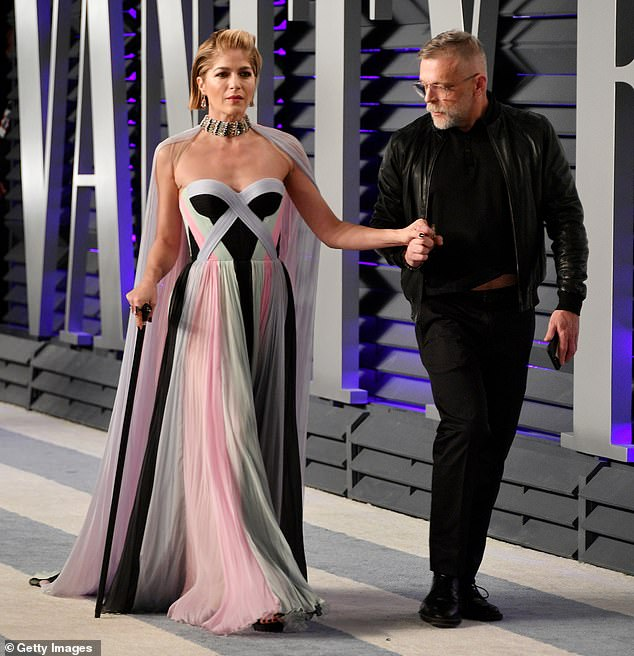 Support: Her appearance on GMA aired less than two days after she attended the Vanity Fair Oscars party with her cane - her first red carpet event since her diagnosis