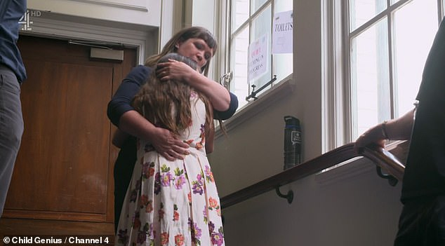 Kaja comforted her daughter Melissa, who was one of 19 contestants competing to be named Brighton's brightest child