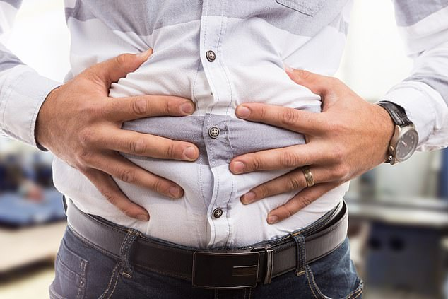 Awkward: Bloating is usually the result of air in the stomach or intestines. Stomach air causes belching, whereas intestinal air causes flatulence
