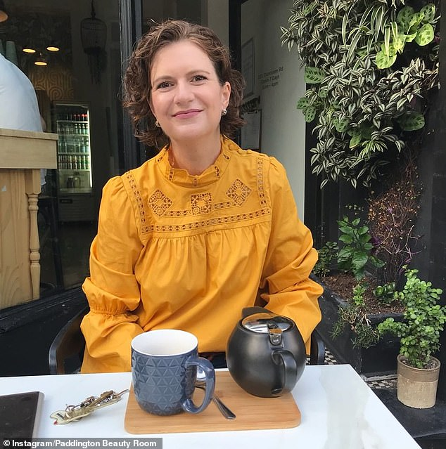 Celebrity facialist Anna Field (pictured), who manages the Paddington Beauty Room , said you should 'never squeeze' if you want clear skin