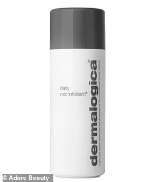She swears by Dermalogica's Daily Microfoliant and La Prairie's Cellular Power Infusion