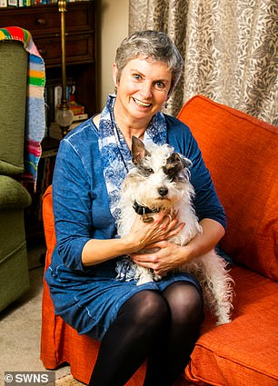 Man's best friend: Kay Cotton and her beloved Jack Russell cross, Cookie