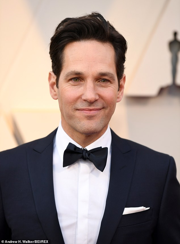 Looking ageless: Fans are going gaga over Paul Rudd's youthful appearance at the Academy Awards on Sunday evening