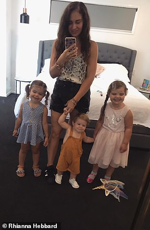 'My house is most definitely still chaos! But now it's organised chaos... most of the time,' she said (pictured with her three children)