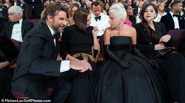 Great relationship: It's fair to say that Bradley, Irina and Lady Gaga all appear to get on very well