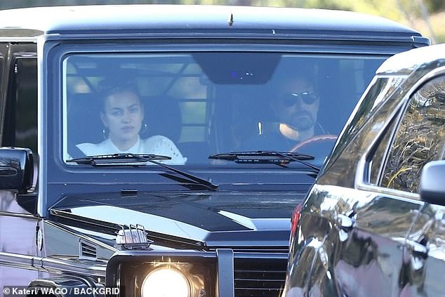 Back to the daily grind: Bradley Cooper, 44, and Irina Shayk, 33, were spotted heading out into Los Angeles to run errands