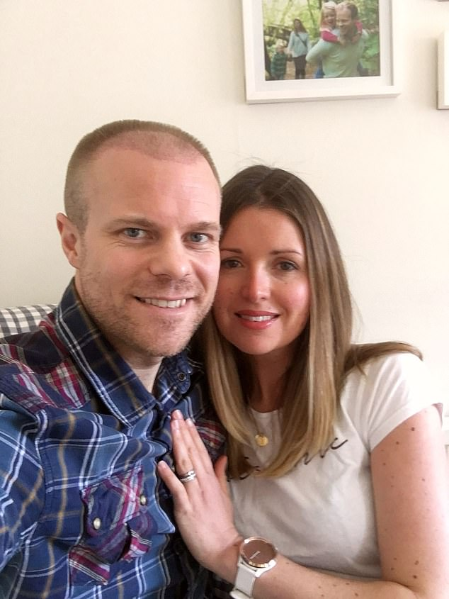 King's wife Emma (pictured together) has noticed a big difference in her husband, and says he has a 'spring in his step'