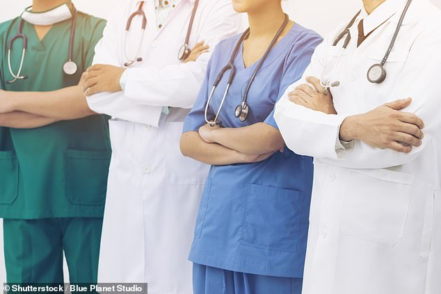 The NHS Staff Survey 2018, published today, revealed the proportion of black and minority ethnic staff who said they were abused or harassed by a patient, relative or member of the public over the past year rose by 1.3 per cent (stock image)