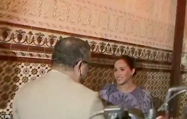 Meghan curtsies to King Mohammed VI this week. Former royal butler Grant Harrold told FEMAIL: 'It is clear that the Duchess of Sussex has perfected her curtsy over the last few years'