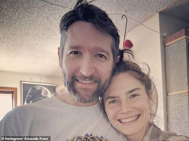 Knox and is engaged to novelist Christopher Robinson (above together). They have been dating since 2016, having met when Amanda reviewed his novel for a local magazine