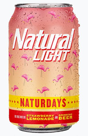 Sweet sips! Natural Light has also just introduced Naturdays, a strawberry-lemonade flavored light beer with flamingos on the can