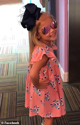 An MRI in June showed the tumor had been shrunk by half from about 3.8 centimeters to about 1.6 centimeters. Since then, it has not grown. Pictured: Layla