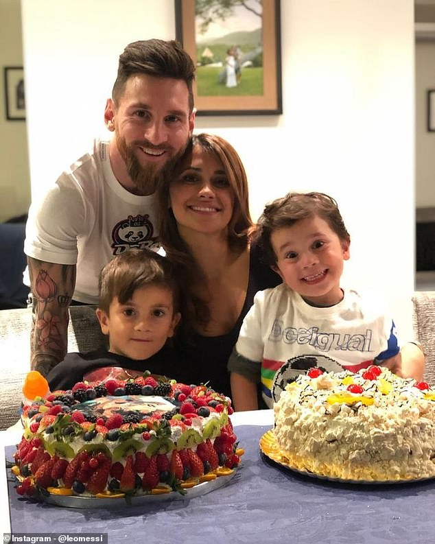 Ciro Messi Roccuzzo : messi, roccuzzo, Barcelona, Lionel, Messi, Celebrates, Ciro's, First, Birthday, Clasico, Showdown', Daily, Online