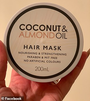 This coconut and almond oil hair mask from Kmart is priced at $3