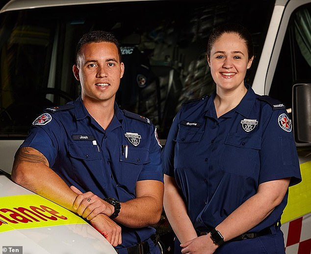 'I watched a four-year-old girl die in front of me': Paramedic Josh Payne [pictured with a colleague] revealed the most shocking moment of his career