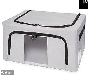 This sturdy storage box, priced at $6.99, comes with a transparent window