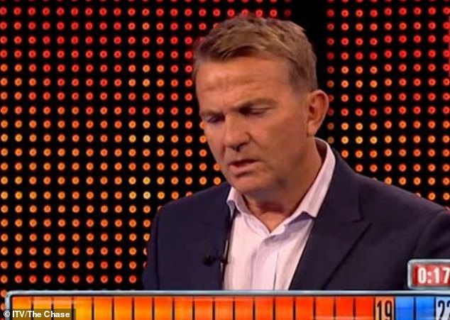 Wow: Even host Bradley Walsh was taken aback by The Sinnerman's knowledge