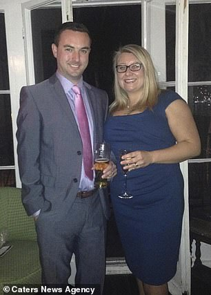 Her husband Matt (pictured together) has given her an ultimatum to curb her drinking habit