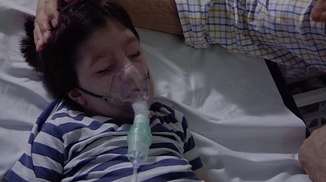 The family were filmed comforting Jeremy as doctors rushed to find out what may be causing his breathing difficulties.The little boy was born with birth defect microcephaly, which causes a small head, and epilepsy, and is unable to see, speak or lift his head on his own