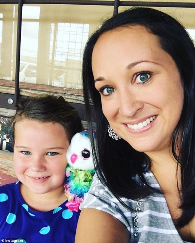 Claire Culwell, pictured with her biological daughter, Sadie-June, six, first met her biological mother Tonya, now 47, at the age of 21 after tracking her down via an adoption agency