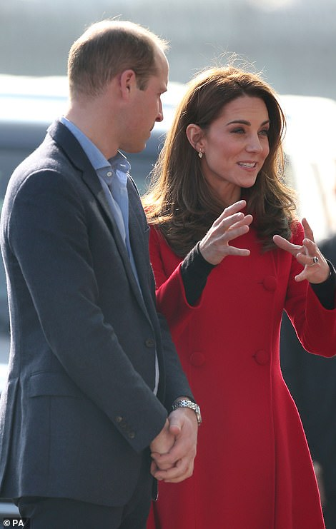 The Duke and Duchess of Cambridge were animated as they arrived at Windsor Park for the first stop on their two-day tour