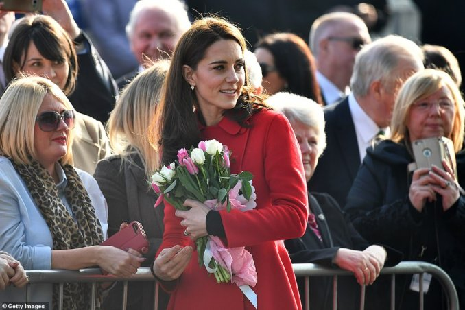 The Duke and Duchess of Cambridge have arrived for a two-day tour and started the visit at Windsor Park, pictured