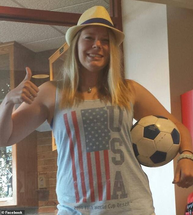 Devastating: Molly Schroeder (pictured), 28, had a heart attack when she was just 21 years old and attending college at St. Norbert College, near Green Bay, Wisconsin