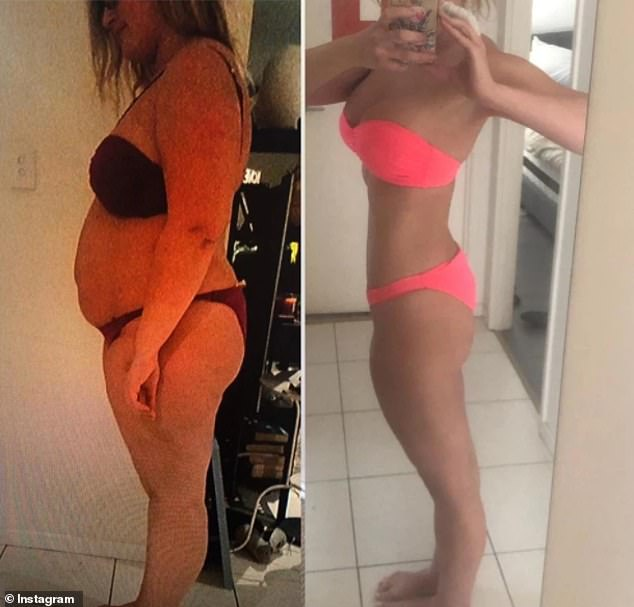 Alex shows her body transformation in bikini selfies - she went from 130kg (20 stone) to 69kg (10st 8lbs)