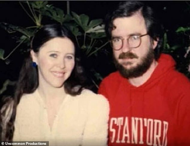 Allison, right, met his first wife, Malinda, at a frat party in 1966 while he was a student at the University of Texas at Austin, where he worked in the laboratory and once lit a cigarette after spraying acetone - causing an explosion that burned off his eyebrows and nearly got him fired