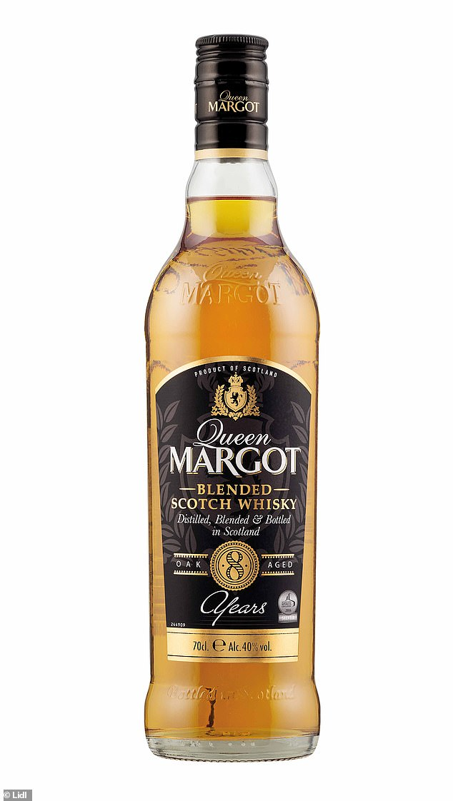 German chain Lidl's Queen Margot Whisky, which costs just £13.49 for 70cl scooped the coveted title of 'Best Scotch Whisky' at this year's World Whiskies Awards