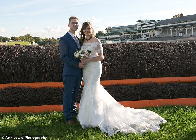 Instead of the expensive country house venue Katie originally wanted, the pair chose to wed at Chepstow racecourse inMonmouthshire