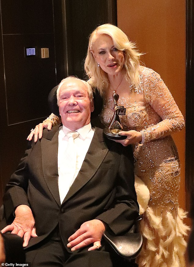 'As you all know, John has faced some tremendous challenges over the past few years and with each he has been extraordinarily brave and determined to overcome those hurdles and live a normal life,' she added