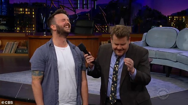 A stunned James Corden was left in hysterics after he  learned more about what really went on behind the Australian couple's 'hot-and-heavy' proposal