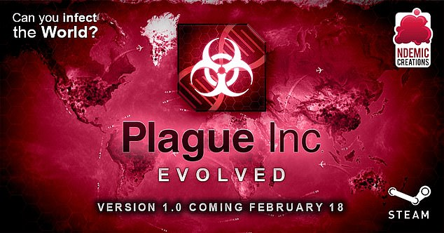 The hugely popular video game Plague (pictured) sees players take on the role of deadly pathogens hellbent on destroying the world. And anti-vaxxers will be the new villains