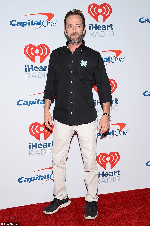 Luke Perry, shown on September 22, was taken to the hospital in Los Angeles on Wednesday at 9.40am