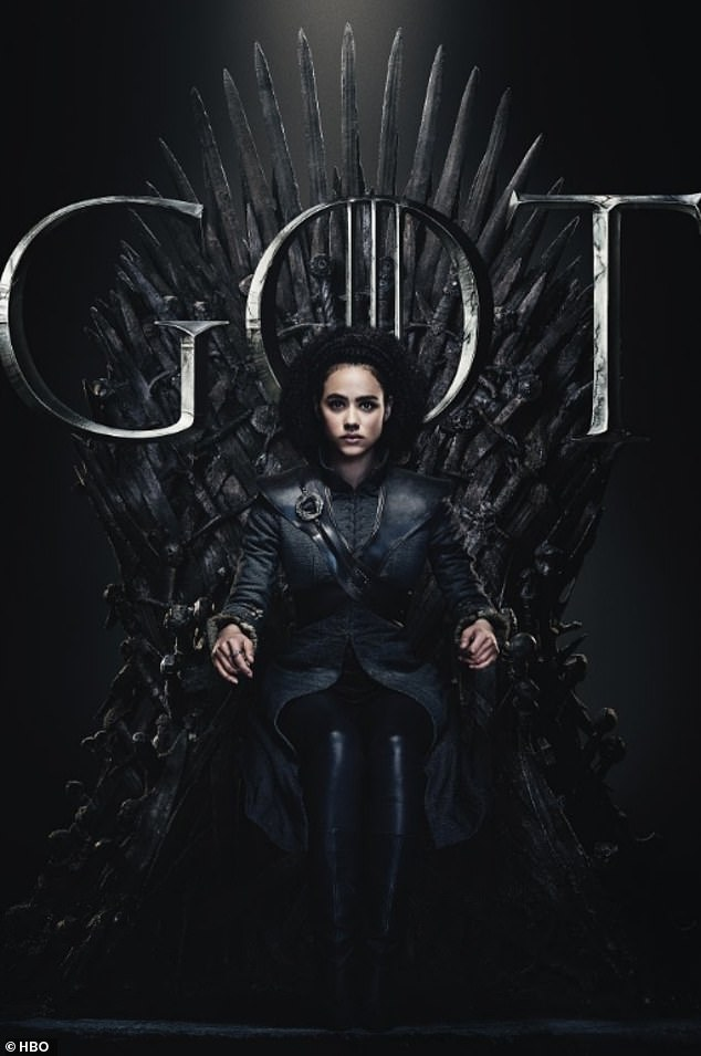 Steely looks: Missandei looked proud when she graced the decorated chair