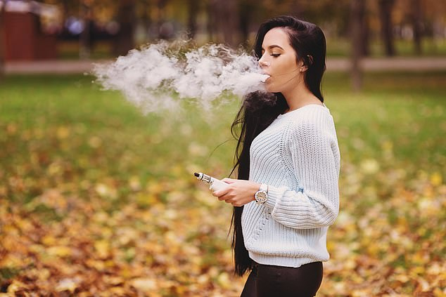 E-cigarettes 'cause signs of lung damage', scientists have warned (stock)