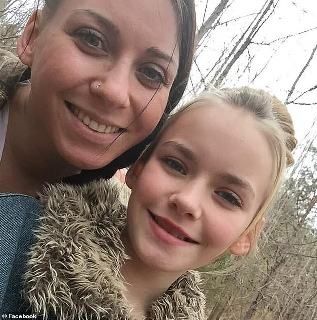 Her mother Jonie Barnett posted a frantic message on Facebook after Amberly disappeared, saying someone had taken the girl from her aunt's home