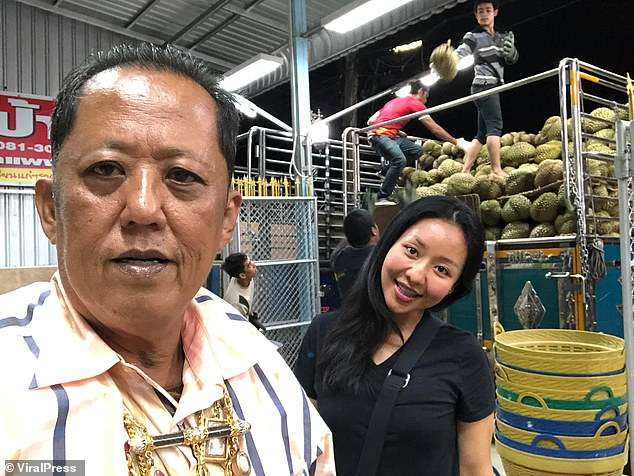 Anont Rotthong (left), 58, promisesten million Thai baht (£240,000) and his prosperous durian fruit farm in southern Thailand to the man who marries his daughter (right)