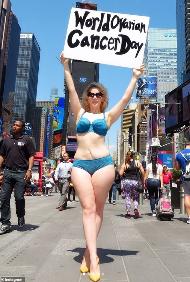 Goal: Elly, who is pictured in May 2018, used her platform as a model to raise awareness for ovarian cancer