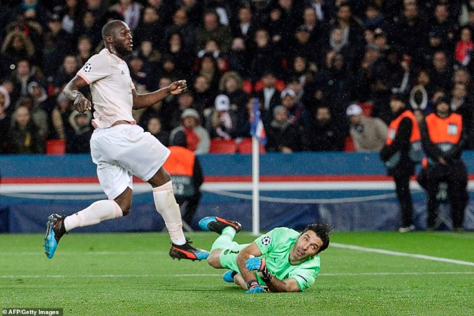 Buffon could only look back across as Lukaku's effort made the back of the net ripple to put United back ahead in Paris