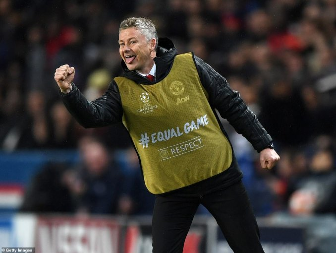Bib-wearing boss Ole Gunnar Solskjaer punched the air on the touchline, as Lukaku's second goal gave his side hope
