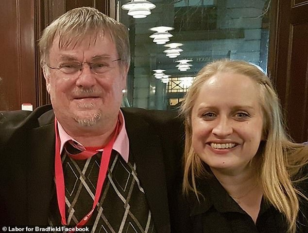 Despite Ms Gompertz (right) issuing an apology Chris Haviland (left), Labor's federal candidate for Bradfield who is also secretary of Labor's Hornsby branch, described the story as a 'total beat up'