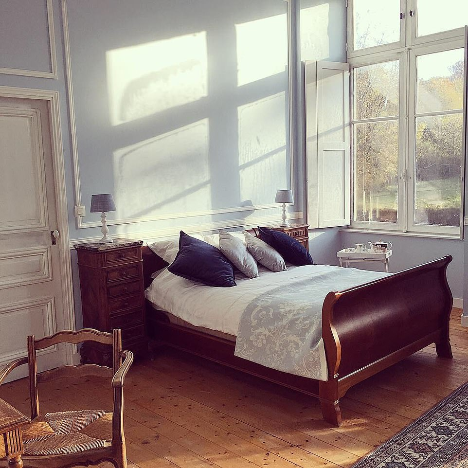 A sun-filled double bedroom in the castle, which Erin and JB are letting out to guests.The couple plan to let the outbuildings around the castle as holiday homes and will completely renovate the main building, to be used for weddings or events