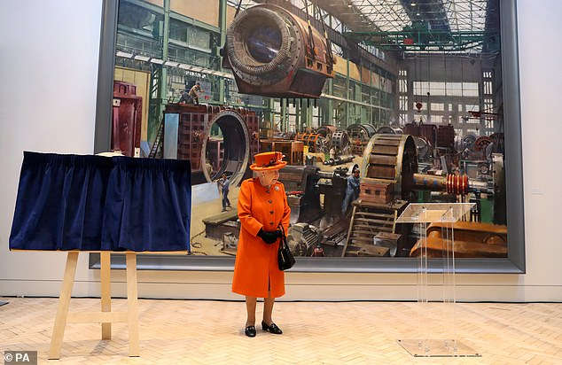 The Queen posted her first ever Tweet during a previous visit to the Science Museum