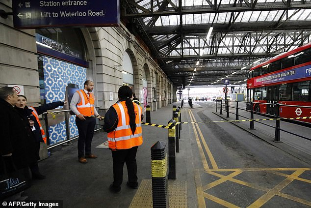 The IED bombs, aimed at major transport hubs across London including Waterloo station (pictured) are being investigated but have sparked fears of a resurgence in a 'New IRA' group